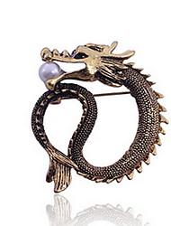 кореянка сплав дракона брошь