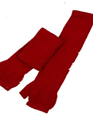 Long Section Of Solid Color Semi-Refers To The Leather Gloves (Red A Pack Of Two Pairs Of A Pack Of A Sale)