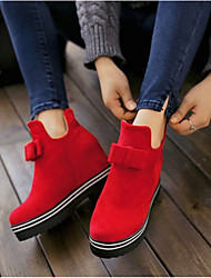 Women's Boots Others Suede Casual Black Red
