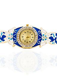 Женские Часы-браслет Механические, с ручным заводом сплав Группа Бабочка Богемные Кольцеобразный Элегантные часы Золотистый
