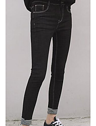 Women's Skinny Jeans Pants,Casual/Daily Simple Solid Low Rise Zipper / Button Others Micro-elastic Fall / Winter