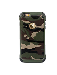 For iPhone 8 iPhone 8 Plus iPhone 7 iPhone 7 Plus iPhone 6 Case Cover Shockproof Back Cover Case Camouflage Color Hard PC for Apple