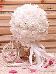 """Bouquets de Noiva Redondo Peônias Buquês Festa / noite Flôr Seca 7.48""""(Aprox.19cm)"""