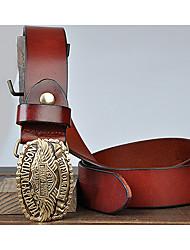 Masculino Cinto para a Cintura Trabalho / Casual Liga Pêlo Masculino