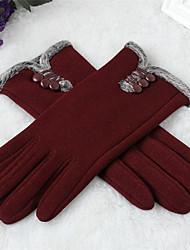 женщины полиэстер кончики пальцев длина запястье, твердый случайный зима