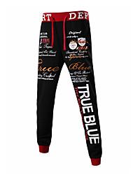 Hombre Pantalones Chinos / Deportivo-Simple / Activo Microelástico-Algodón