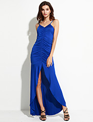 Women's Sexy Casual / Party / Work Straps Halter Slimming Long Dress