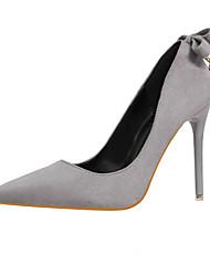 Damen-High Heels-Lässig-KunstlederKomfort-Schwarz / Rosa / Rot / Grau