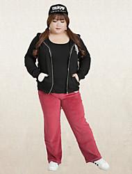 KELIXUAN Women's Solid Pink Straight PantsActive Winter