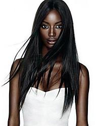 ¡gran venta! 100% cordón del pelo remy virginal humana&negro de encaje peluca delantera del cordón peluca recta natural con el pelo