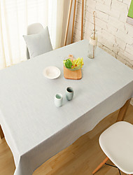 Rectangular Solid Table Cloth , Linen / Cotton Blend MaterialHotel Dining Table / Wedding Party Decoration / Wedding Banquet Dinner /