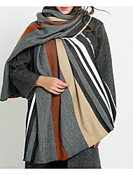 Women Faux Fur Scarf,Casual RectangleStriped