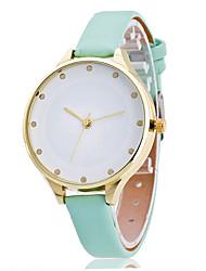 Mulheres Relógio Elegante Relógio de Moda Relógio de Pulso Relógio Casual Quartzo Punk Colorido Mostrador Grande PU BandaVintage