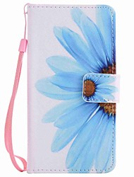 For LG K10 K7 NEXUS 5X Lss775 Xpower Case Cover Sunflower Painted Lanyard PU Phone Case