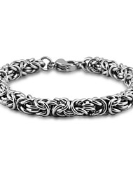 Men's Jewelry Stainless Steel Titanium Steel Unique Design Hypoallergenic Fashion Silver Jewelry Party Daily 1pc