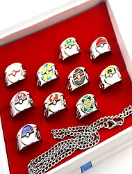 Inspired by Poket Little Monster PIKA PIKA Anime Cosplay Accessories Ring Silver Alloy