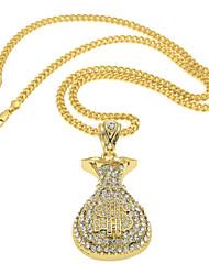 Colar imitação de diamante Colares com Pendentes Jóias Casamento / Festa / Casual Hip-Hop Liga Feminino / Masculino 1peça DomDourado /