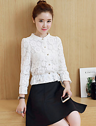 Really making 2017 spring new Women Korean Slim lace shirt blouse small shirt female long-sleeved shirt