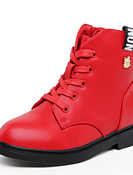 Girl's Boots Spring / Fall / Winter Others Leather Outdoor / Dress / Casual Zipper / Lace-up Red Others