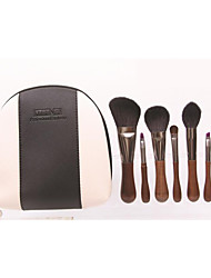 6 Makeup Brushes Set Horse Professional / Travel / Eco-friendly / Horse Hair / Portable Wood Face / Eye Others