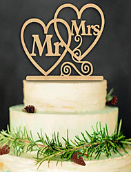 The New Wooden Wedding Cake Birthday Party Card Inserted With Cake Decoration