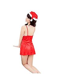 Costumes de Cosplay Costumes de père noël Fête / Célébration Déguisement Halloween Rouge Couleur PleineJupe / Plus d'accessoires /
