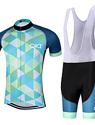 QKI Conjunta Pro Cycling Jersey with Bib Shorts Men's Short Sleeve BikeBreathable / Quick Dry/Anatomic Design/reflective stripe/5D coolmax gel pad