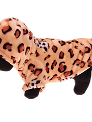Dog Costume Dog Clothes Casual/Daily Leopard Yellow