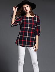 Damen Verziert Einfach / Street Schick / Anspruchsvoll Übergröße / Ausgehen / Lässig/Alltäglich T-shirt,Rundhalsausschnitt Alle Saisons