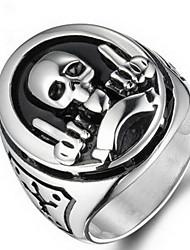Ringe Ohne Stein Halloween / Alltag / Normal Schmuck Titanstahl Herren Ring 1 Stück,7 / 8 / 9 / 10 / 11 / 12 Silber