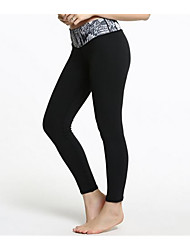 Yoga Pants Tights BottomsBreathable Thermal / Warm Quick Dry Fleece Lining Anti-skidding/Non-Skid/Antiskid Limits Bacteria Reduces
