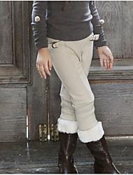 Pantalones Chica Casual/Diario / Deportes Un Color AlgodónInvierno / Otoño