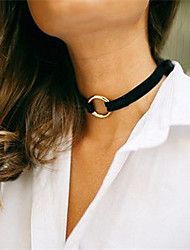 Women's Choker Necklaces Tattoo Choker Jewelry Velvet Tattoo Style Fashion Personalized White Black Brown Red JewelryWedding Party