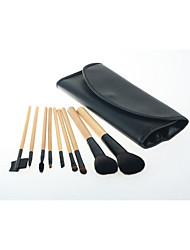 9 Conjuntos de pincel Escova de Cabelo de Cabra Profissional / Viagem / Portátil Madeira Rosto / Olhos Outros
