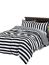 Mingjie Black Stripes Bedding Sets 4PCS for Twin Full QueenSize from China Contian 1 Duvet Cover 1 Flatsheet 2 Pillowcases