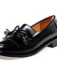 Women's Loafers & Slip-Ons Comfort PU Casual Black Burgundy