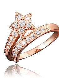Star Design Girl's Rose Gold Plating Brand Ring
