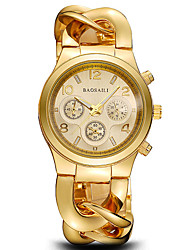 Mulheres Relógio Elegante Relógio de Moda Relógio de Pulso Bracele Relógio Impermeável Punk Colorido Mostrador Grande Resistente ao Choque