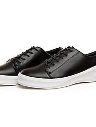 Femme-Décontracté-NoirConfort-Sneakers-Polyuréthane