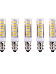 5Pcs A Fil Others E14 75Led Smd2835 7w  1000Lm AC220  White Warm White Small Ceramic Corn Lamp Blanc