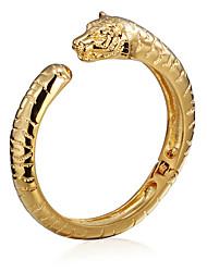 Homens Bracelete Aço Inoxidável Chapeado Dourado Moda Estilo Punk Personalizado Rock Dourado Jóias 1peça