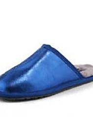 Women's Slippers & Flip-Flops Winter Slingback Wool Casual Flat Heel Others Blue / Pink / Gold / Fuchsia Others