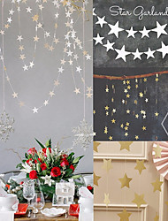 1pcs Star-shaped Paper Garlands 4M Colorful Bunting Home Wedding Party Banner Hanging Paper Garland Shower Room Door Decoration