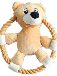 Игрушка для собак Игрушки для животных Интерактивный / Плюшевые игрушки / Игрушки с писком Скрип / Прочный Розовый / Верблюжий Хлопок