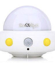 YouOKLight DC5V 1W Flying Saucer UFO Shaped LED Night Light Motion Sensor Lamp for Kids Nursery Bedroom