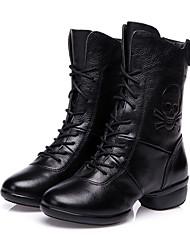 Sapatos de Dança(Preto / Vermelho) -Feminino-Não Personalizável-Botas de dança