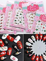 3 Nail Art Sticker Decalques de transferência de água maquiagem Cosméticos Prego Design Arte