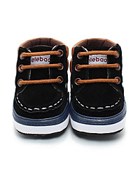 Kids' Boys' Baby Boots First Walkers Fleece Fall Winter Casual Black Coffee Flat