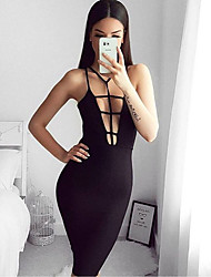 Women's Going out Sexy Bodycon Dress,Solid Strapless Above Knee Sleeveless White / Black Silk Summer Low Rise Micro-elastic Medium