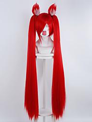 ligue de fille jin ke si le rouge légendes avec des oreilles perruque cosplay animation